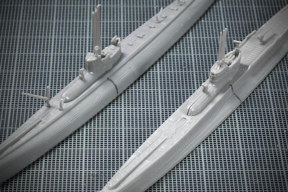 アオシマとタミヤの巡潜乙型ディテール比較