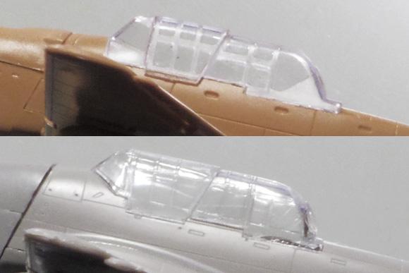 イタレリとフジミの1/72 Ju 87 Bディテール比較