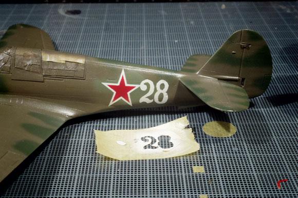 ハセガワ 1/72 P-40Nのマーキング
