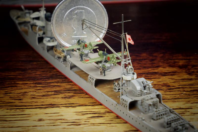 航空駆逐艦「羽風」の航空作業甲板