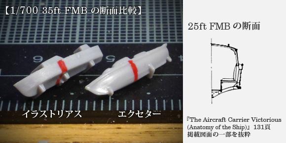 1/700 35ft FMB の断面比較