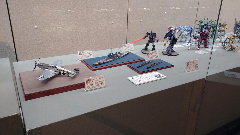鹿児島モデラーズコンベンションのガラスケース展示