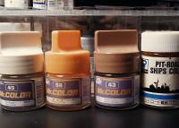 不完全版・模型用塗料の近似修正マンセル値一覧表: 橙色・茶色篇