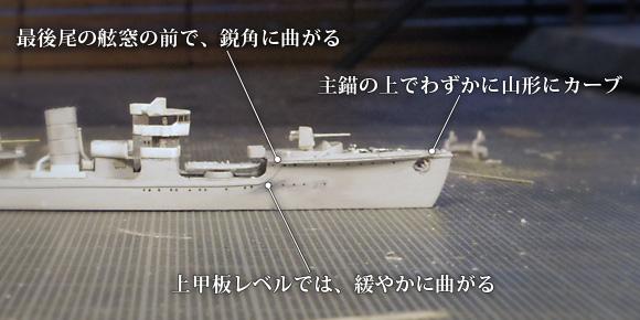 「樅型」「蔦型」の舷外電路 (消磁電路) の、装備位置の特徴