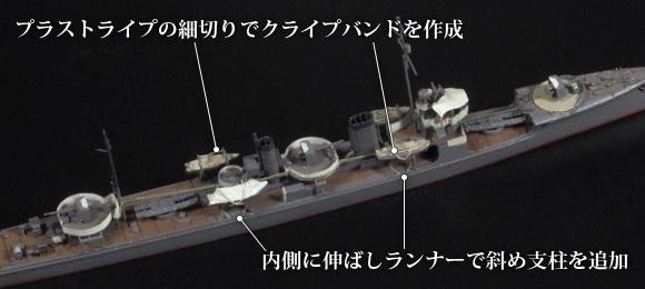 ナノ・ドレッドのラフィング型ボートダビットを使用したディテールアップ
