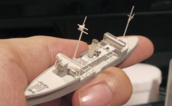 砲艦「嵯峨」を1/700で適当スクラッチ