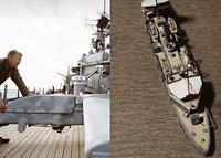 木甲板色の褪色について考える - 1/700で砲艦嵯峨をつくる: 後篇