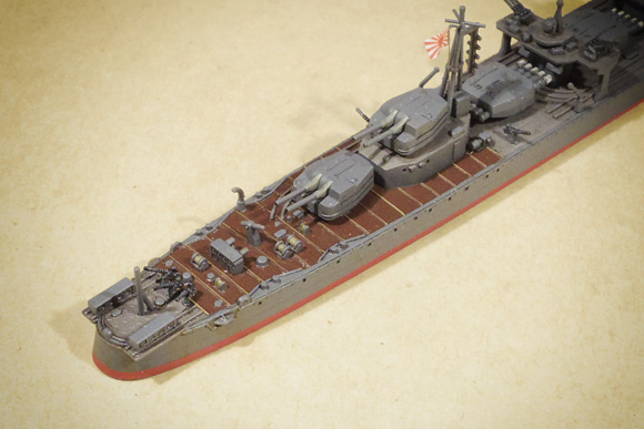 タミヤ新版島風の甲板デカール