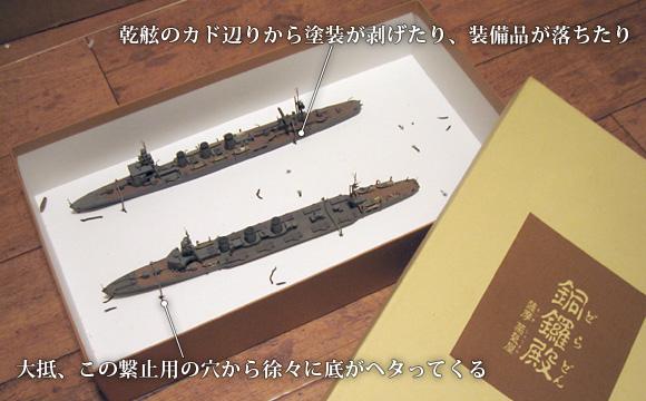 不用になった紙箱を再利用した、艦船模型の輸送箱