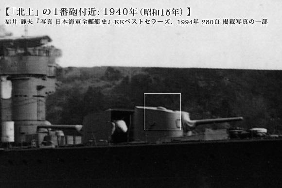 「北上」の1番砲付近: 1940年 (昭和15年)