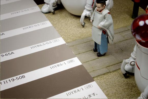 1/35の和風石畳の色調