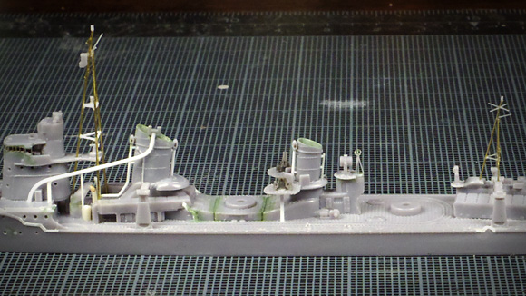 ハセガワ夕雲の蒸気捨管・小煙突・通気筒の工作